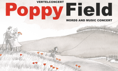 Poppy Field words and music concert flyer