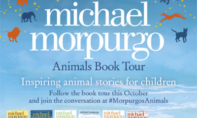 Michael Morpurgo Animal Book Tour badge featuring included books.