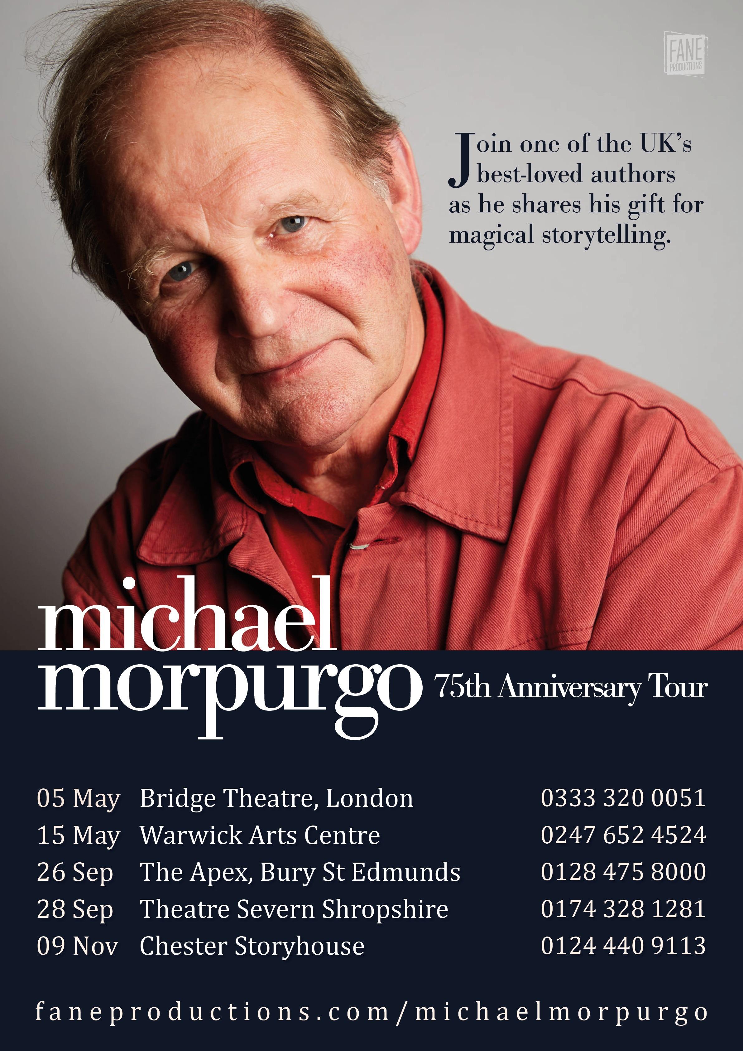 Michael Morpurgo Tour Poster