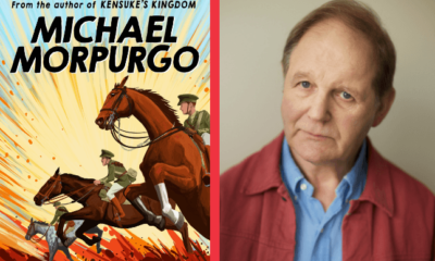 Michael Morpurgo with War Horse Cover