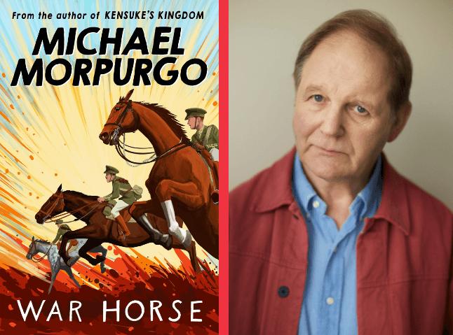 Michael Morpurgo with War Horse Cover