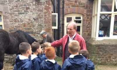 Michael Morpurgo at Nethercott House, Farms for City Children