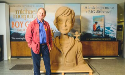Michael Morpurgo - Boy Giant Sand Sculpture